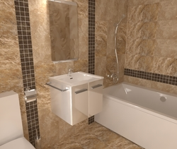 baie 1 travertin Classic Bathroom Paul Dudnicenco